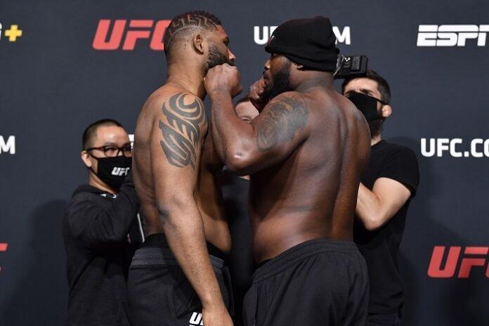 Curtis Blaydes and Derrick Lewis, UFC