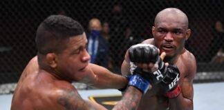 Gilbert Burns and Kamaru Usman, UFC 258