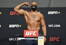 Ciryl Gane UFC Vegas 20 weigh-in