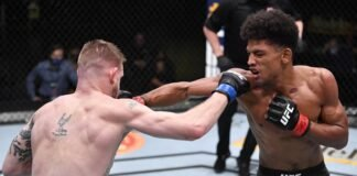 Alex Caceres and Kevin Croom, UFC Vegas 20