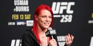 Gillian Robertson UFC 258 media day