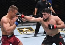 Ian Heinisch and Kelvin Gastelum, UFC 258