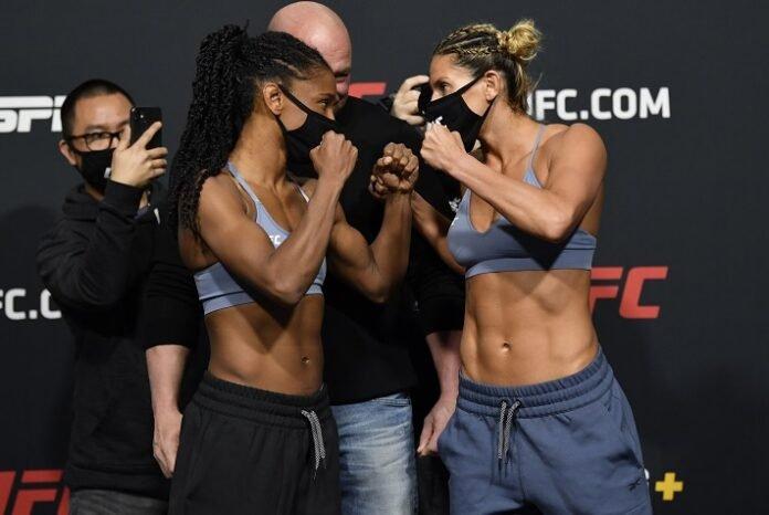 Angela Hill and Ashley Yoder, UFC Vegas 20