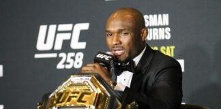 Kamaru Usman UFC 258 post-fight