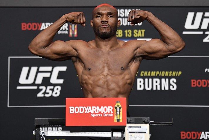 Kamaru Usman UFC 258 weigh-in