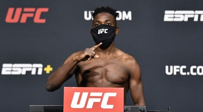 Manel Kape, UFC Vegas 18 weigh-in
