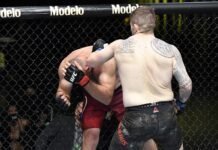 Aleksei Oleinik and Chris Daukaus, UFC Vegas 19