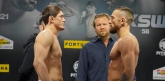 Shamil Musaev and Uros Jurisic, KSW 58 weigh-in