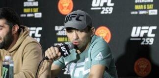 Askar Askarov UFC 259 media day