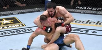 Drew Dober and Islam Makhachev, UFC 259