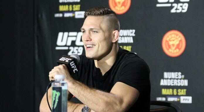 Drew Dober, UFC 259 media day