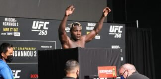 Fabio Cherant UFC 260 weigh-in