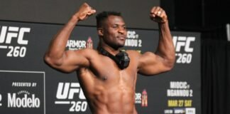 Francis Ngannou UFC 260 Weigh-In