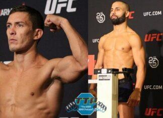 Hunter Azure and John Makdessi, UFC