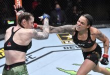 Megan Anderson and Amanda Nunes, UFC 259