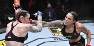 Megan Anderson and Amanda Nunes, UFC 259