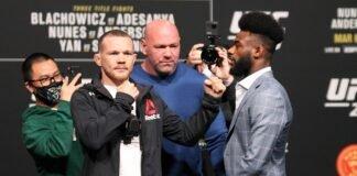 Petr Yan and Aljamain Sterling, UFC 259 press conference