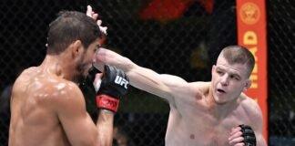 Leonardo Santos and Grant Dawson, UFC Vegas 22