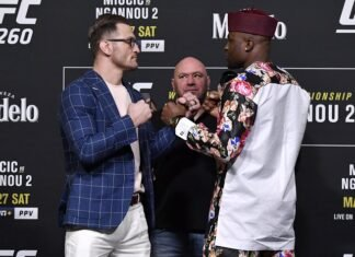 Stipe Miocic and Francis Ngannou, UFC 260 face-off