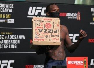 Israel Adesanya, UFC 259 weigh-in