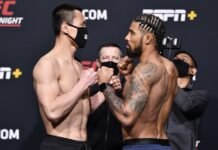 Song Kenan and Max Griffin, UFC Vegas 22
