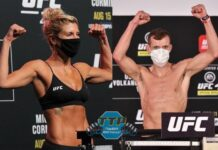 Ashley Yoder and Davey Grant, UFC