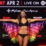 Alejandra Lara Bellator 255 weigh-in