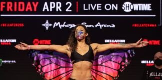Alejandra Lara Bellator 255 weigh-in