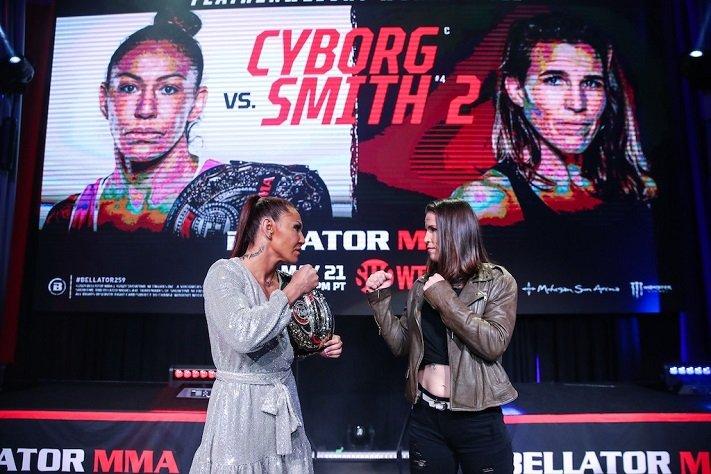 Cris Cyborg vs. Leslie Smith 2 Announced for Bellator 259