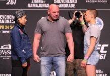 Weili Zhang and Rose Namajunas, UFC 261