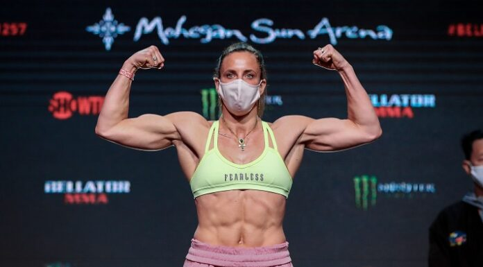 Julia Budd Bellator 257 weigh-in