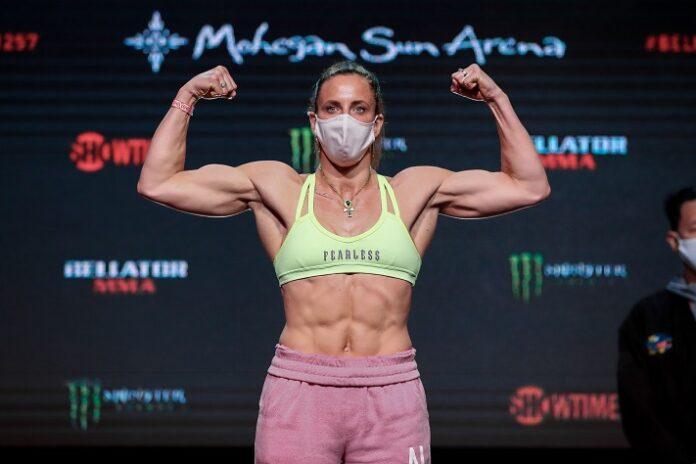 Julia Budd Bellator 257 weigh-in