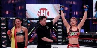 Alejandra Lara and Kana Watanabe, Bellator 255