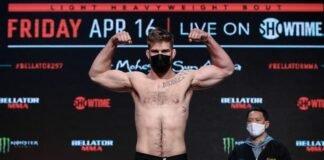 Steve Mowry Bellator 257 weigh-in