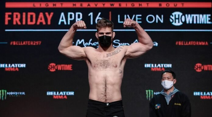 Steve Mowry Bellator 257 weigh-in