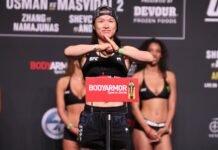 Weili Zhang, UFC 261 ceremonial weigh-in