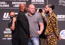 Kamaru Usman and Jorge Masvidal, UFC 261 face-off