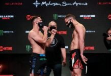 Logan Storley and Omar Hussein, Bellator 258 weigh-in