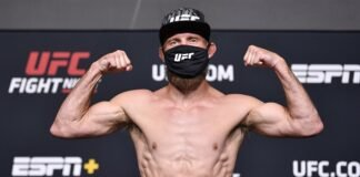 Donald Cerrone UFC Vegas 26 weigh-in