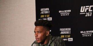 Jamahal Hill UFC 263 media day