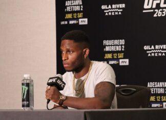 Hakeem Dawodu UFC 263 media day