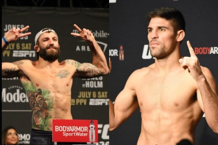Michael Chiesa and Vicente Luque, UFC