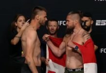 Tim Means and Nicolas Dalby, UFC Vegas 30