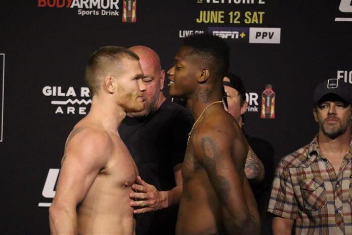 Matt Frevola and Terrance McKinney, UFC 263