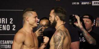 Drew Dober and Brad Riddell, UFC 263