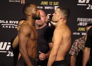 Leon Edwards and Nate Diaz, UFC 263