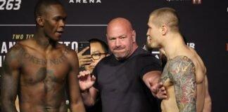 Israel Adesanya and Marvin Vettori, UFC 263