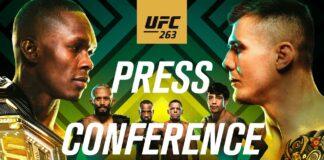 UFC 263: Adesanya vs. Vettori press conference live stream