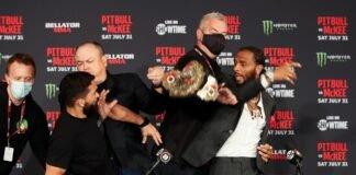 Patricio Pitbull and A.J. McKee, Bellator 263 press conference