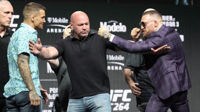 Dustin Poirier and Conor McGregor, UFC 264